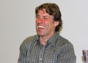 John Bishop gives a guest talk to Liverpool Screen School students at LJMU Redmonds. Pic by Conor Allison © JMU Journalism