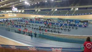 The British Indoor Rowing Championships took place in the Velodrome in London Olympic Park. Pic © Michelle Fisher