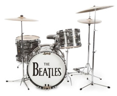 Ringo's 1963 Ludwig Oyster Black Pearl drum kit © Julien's Auctions