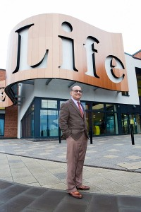 Doctor Nadim Fazlani, Chair of NHS Liverpool CCG. Addressing Liverpool's future healthcare. © NHS Liverpool Clinical Commissioning Group