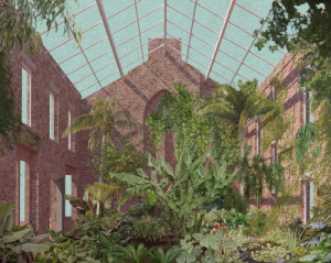 An illustration of the Winter Garden that will look to be replicated © Assemble