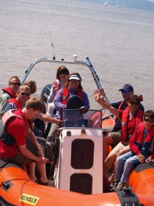 Tourists enjoying a boat tour around Hilbre last year. Pic © Wirral Sailing Centre