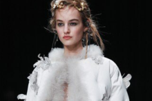 A fashion student who studied at Liverpool Community College made her debut at London Fashion Week (LFW) working for Alexander McQueen.