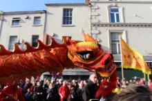 The sun shone brightly in Chinatown as people lined the streets for the start of the Chinese New Year celebrations.