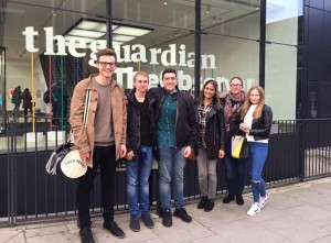 JMU Journalism students visited the Guardian headquarters in London