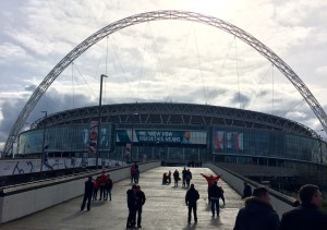 Wembley Stadium ahead of the Capital Cup Final between Liverpool and Manchester City. Pic by Matt Crosby © JMU Journalism