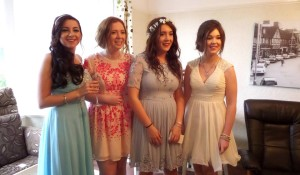 Alice's models try on the first dresses © Prom Ally