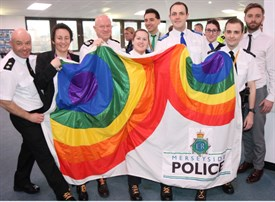 Merseyside Police show their support for the LGBT community