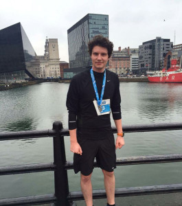 Robert just after he completed the 'Winter 10k' event in January. Robert just after he completed the 'Winter 10k' event in January Pic © Robert Quinn