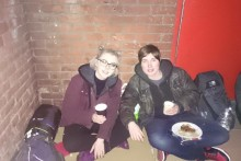 A 48-hour street sleep has raised nearly £1,400 for the homeless community in Merseyside.