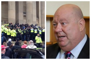 Mayor Joe Anderson demanded the right to band far-right protests following the North West Infidels demonstration in Liverpool. Pics © JMU Journalism