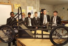 Students from an Aigburth school are building an eco-car from scratch to enter a national competition.