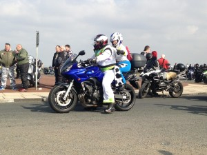 Motorcyclists line up ahead of Wirral Egg Run. Pic by Lewis Price © JMU Journalism