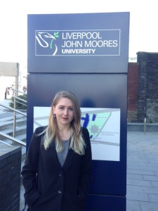 JMU Journalism graduate Josie Timms returns to LJMU to discuss her Index on Censorship internship. Pic by Rochelle Beighton © JMU Journalism
