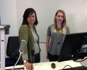Index on Censorship's Rachael Jolley with Josie Timms at LJMU. Pic by Rochelle Beighton © JMU Journalism