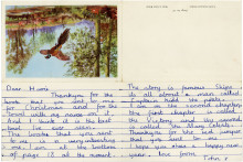 The earliest known letter written by Beatles star John Lennon is expected to sell for more than £30,000 at auction.
