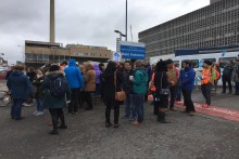 Junior doctors in Merseyside and across England stage two-day strike action in a protest over new working contracts.