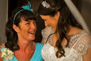 Samantha and mother, Angela who suffered a stroke at the age of 34. Pic © Samantha Warham/Facebook