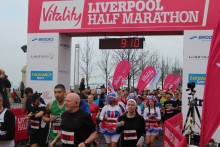 More than 5,000 people assembled at the Pier Head to participate in the Liverpool Half Marathon.