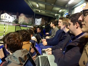 JMU Journalism Sport at Marine Football Club 2016. Pic © JMU Journalism