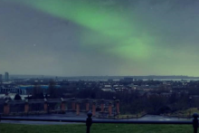 Onlookers were amazed by a rare appearance of the Northern Lights over Liverpool and the Irish Sea.