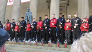 Vigil for Hillsborough at St George's Hall. Pic © Nathan Archer / JMU Journalism