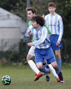 Level 2 captain Josh Doherty battled well against the Alumni. Pic © Craig Galloway