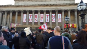 Vigil for Hillsborough at St George's Hall. Pic © Sam Davies / JMU Journalism