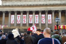 The city remembered the 96 at St George's Hall in a vigil following the 'unlawful killing' verdict at the Hillsborough Inquests.