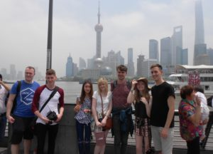 Shanghai trip for Andrew Nuttall, Christopher Wyatt, Stacey Qi, Paige Freshwater, Christopher Hine, Sarah Williams and Danyaal Yasin