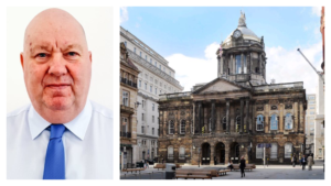 Liverpool Mayor Joe Anderson remains in charge at the Town Hall. Pics © Liverpool Express