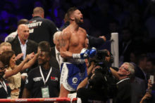 Liverpool's Tony Bellew beat Illunga Makabu to win the WBC World Cruiserweight title in front of his home fans at Goodison Park.