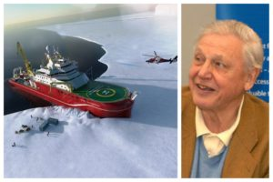 Artist's impression of the RSS Sir David Attenborough. Pics © Cammell Laird/Wikimedia Creative Commons