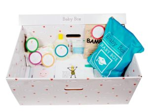 Free Baby Box bundle. Pic © The Baby Box Co.