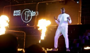 Stormzy performing at the BBC Radio 1Xtra Live show at Liverpool's Echo Arena. Pic by Sarah Jeynes © BBC