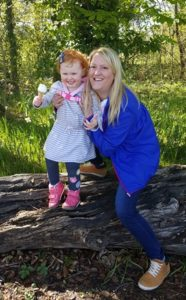Mum Anita Stevenson with three-year-old daughter © Merseyside Police