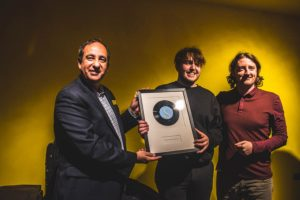 Dan Astles recieving the Sound Station Award. Pic © GetIntoThis
