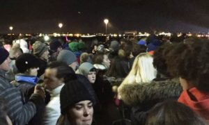 Crowds at the docks for the River of Light Bonfire Night event. Pic by Amy Shirtcliffe © JMU Journalism