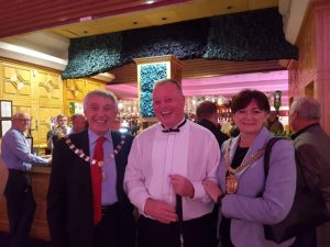 Dave Kelly with the Lord Mayor of Liverpool. Pic by Aaliyah Rugg © JMU Journalism