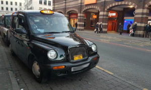 Liverpool taxis. Photo by David Purcell © JMU Journalism