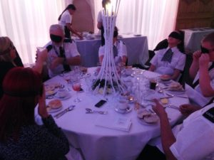Merseyside Police at the dinner in the dark event. Pic by Andrew Nuttall © JMU Journalism