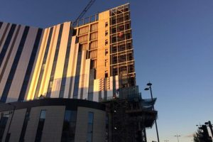 Construction work at Liverpool's New Royal Hospital. Pic by Nicole Quinn © JMU Journalism