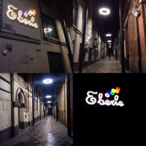Aspects of the new £1.6m scheme lighting the path up Eberle Street for Liverpool's clubbers and commuters.