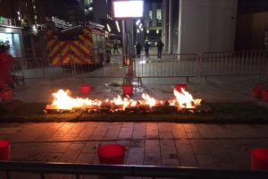 Firewalk raising money for R Charity at Liverpool One. Pic by Nicole Quinn © JMU Journalism