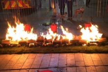 Fearless fundraisers walked over hot coals to help buy equipment for the New Royal Hospital.