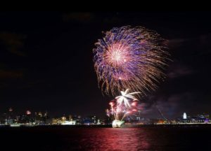 River of Light Bonfire Night event seen from the Wirral. Pic by Vivienne Noonan © JMU Journalism