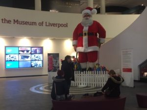 Blacklers Santa at the Museum of Liverpool. Pic © JMU Journalism