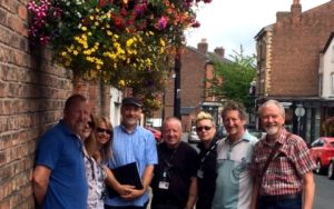 Royal Horticultural Society Judging Panel with members of Oxton Society and Wirral Council © Oxton Society