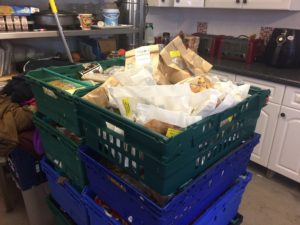 Food donated to the Feeding Birkenhead scheme. Pic by Amelia Eccleson-Davies © JMU Journalism
