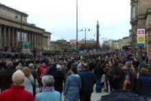 Thousands gathered to mark Remembrance Sunday during services and parades across the region.